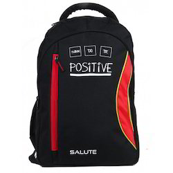 Salute Black and Red Backpack