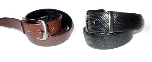 Brown Male Reversible Leather Belt