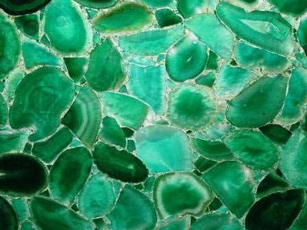 Green Agate Slab, for Wall Tile, 15-20 mm