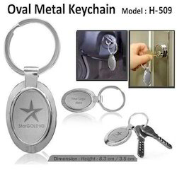 Oval Shape Metal Key chain 509