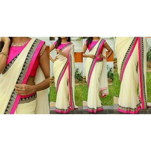 be04fc7f4 Banarasi Silk Festive Wear Fancy Chanderi Silk Saree