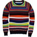 Multicoloured Striped Men Sweater
