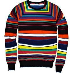 Multicoloured Striped Men Sweater