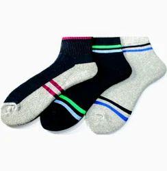 Multicolor Mens Cotton Ankle Socks