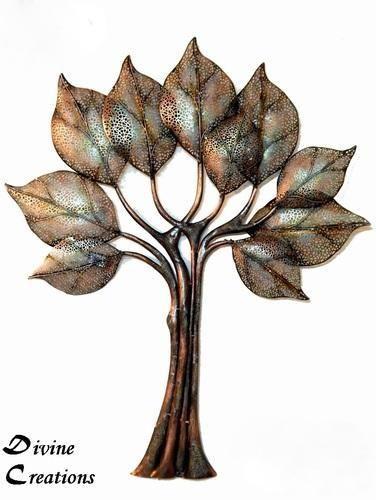 Golden Copper Divine Creations Wall Decor Led Designer Tree