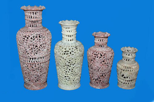 Soapstone Carving Flower Vase Marble Handicrafts Articles