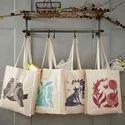 Natural Cotton Tote Hand Bag