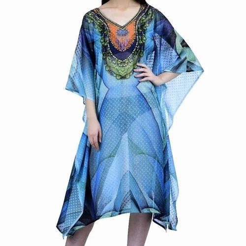 985a2225f32 Leaf Fab New Designer Buti Fabric Digital Print Kaftan