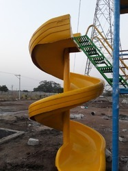 Play School FRP Spiral Slide
