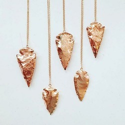 Rose Gold Arrowhead Pendant Necklace