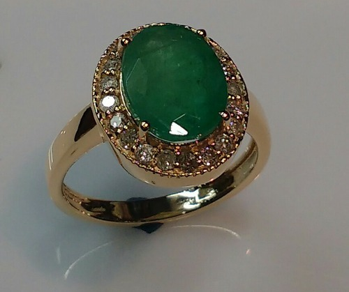 Emerald Gold Ring Manufacturer from Jaipur