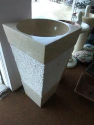 Full Size Pedestal Washbasin In Slabs