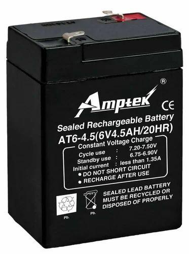 6v 4 5 Ah Amptek Emergency Light Battery