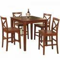 Dark Brown 5 Piece Dining Table Set