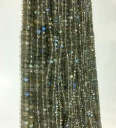 Labradorite Micro Faceted Round Gemstone Beads