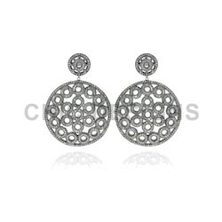 Diamond Rounds Filigree Earrings