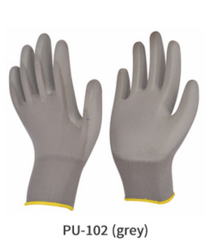 ESD PU Coated Knitted Gloves