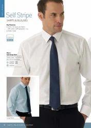 Men's Cotton Self Strip Plain Shirts