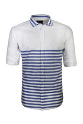 Blue Horizontal Striped Shirt