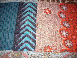 Printed Work Vintage Kantha Quilt