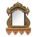 Peacock Handcrafted Wooden Decorative Wall Mirror