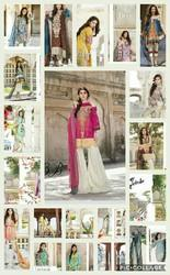 Cotton Casual Wear Qalamkar Embroidered Lawn Suit