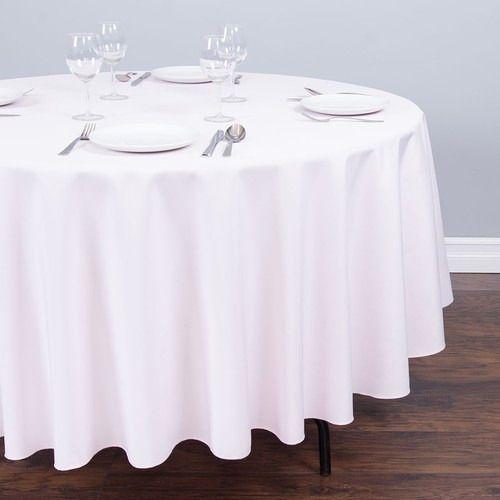Genial Round Shantung Silk Tablecloth