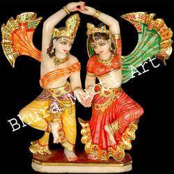Marble Radha Krishna Dancing Statue