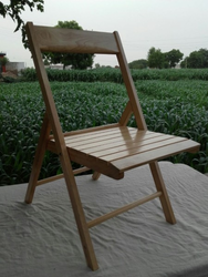 Rubber wood Folding Chair, Size: 15x15seat 30hight