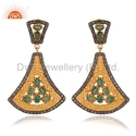 Emerald Pave Diamond Earring Jewelry