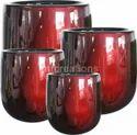 Cylindrical Frp Garden Gloss Planter Pot