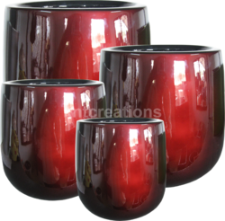 FRP Garden Gloss Planter Pot