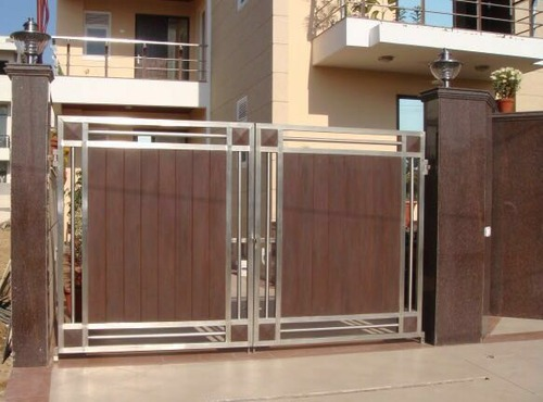 Aluminum Gates Mesh And Glass Steel Ke Gate सटल गट