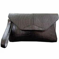 b5cda3d72554 Brown Shaz J Creations Leather Designer Envelop Bag