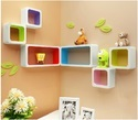 Colorful Set Of 2 Square Wall Shelves