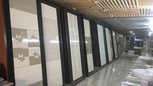 Dark Wood Tiles Display Slider Rack Rs 4000 Strip Om