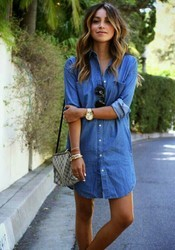 Denim Blue Casual Shirts