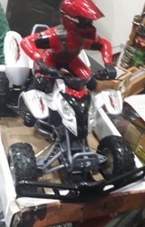 China made Red and black Racing bike remote toy