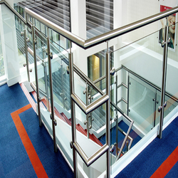 Polished Mild Steel Staircase Railing