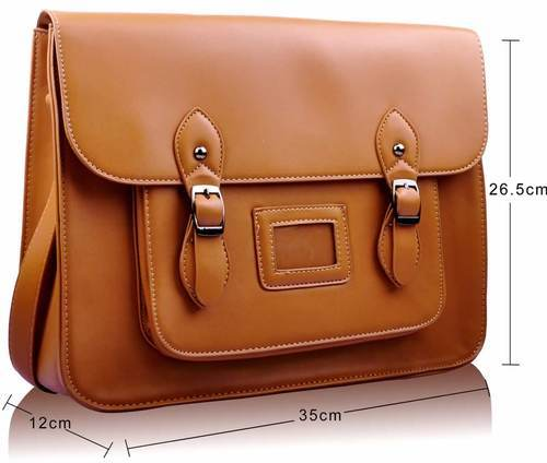 Brown Leather Fancy Office Bag