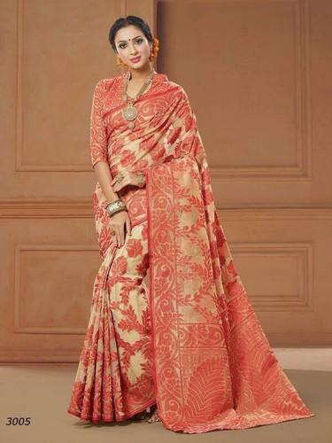 fe20a88d56c Banarasi Print Silk Cotton Saree