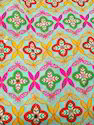Cotton And Georgette Multicolour Embroidery Fabrics