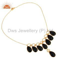 Black Onyx Gemstone Fashion Necklace
