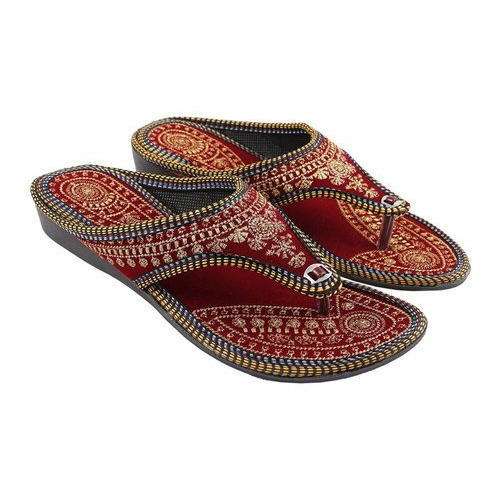 ce1ab780456cc Velvet And Synthetic Foam Casual Ladies Designer Ethnic Flats, Size: 5 - 9