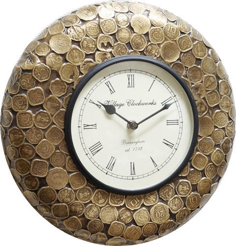 Wood POP Coin Wall Clock