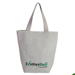 White Earthyy bags Canvas Shopping Bag, Size/Dimension: 35.5 X 35.5 X 15 Cm, Size: 35.5x35.5x15 Cm