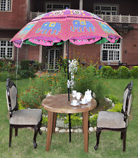 Indian Garden Umbrella Parasol Elephant Embroidered Parasols