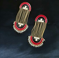 Chain Hanging Color Earring