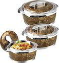 Luxuria Hot Pot And Casserole 3 Pcs Set, Size: 1500 - 2500 Ml