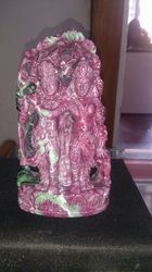Radha Krishna Idol of Ruby Gemstone